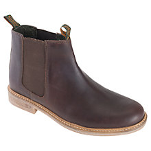 Buy Barbour Farsley Leather Chelsea Boots, Brown Online at johnlewis.com