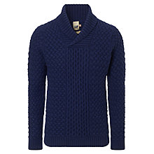 Buy JOHN LEWIS & Co. Made in Italy Lambswool Shawl Cable Jumper Online at johnlewis.com