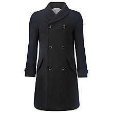 Buy JOHN LEWIS & Co. Shawl Neck Military Coat, Charcoal Online at johnlewis.com
