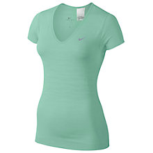 Buy Nike Dri-Fit Knit Texture V-Neck T-Shirt, Medium Mint Online at johnlewis.com