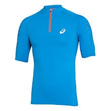 Buy Asics Half-Zip Running Top, Blue Online at johnlewis.com