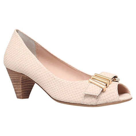 Buy Carvela Adore Leather Reptile Effect Court Shoes, Cream Online at johnlewis.com