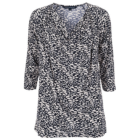Buy French Connection Woodland Wonder Top, Ink/Oyster Shell Online at johnlewis.com