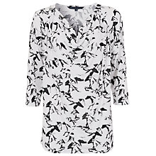 Buy French Connection Hatched Horses T-Shirt, Daisy White/Black Online at johnlewis.com