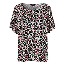 Buy French Connection Anna Jersey Oversized T-Shirt, Powder/Black Online at johnlewis.com