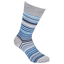 Buy John Smedley Tim Fine Stripe Socks, Multi Online at johnlewis.com