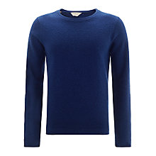 Buy Selected Homme Boiled Wool Crew Neck Jumper, Blue Online at johnlewis.com