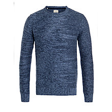 Buy Selected Homme Carson Crew Neck Reverse Knitted Jumper, Navy Blazer Online at johnlewis.com