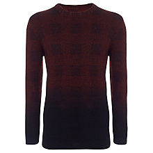 Buy Selected Homme Dip Dye Jumper, Red/Black Online at johnlewis.com