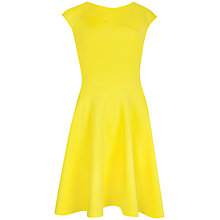 Buy Ted Baker Arwyn Panelled Skater Dress, Yellow Online at johnlewis.com