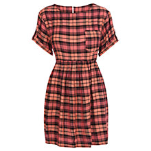 Buy Warehouse Check Smock Dress, Multi Online at johnlewis.com