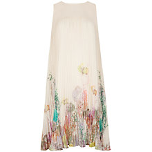 Buy Ted Baker Wispy Meadow Pleated Dress, Light Pink Online at johnlewis.com