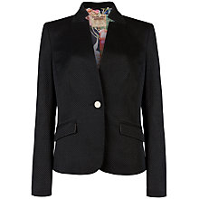 Buy Ted Baker Skyler Textured Pique Blazer, Black Online at johnlewis.com