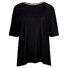 Buy Ted Baker Gerey Chain Detail Top, Black Online at johnlewis.com
