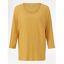 Buy Jigsaw Cotton Slub Dropped Shoulder T-Shirt, Mustard Online at johnlewis.com