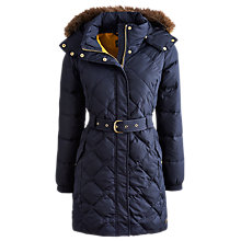 Buy Joules Montbel Long Coat, Marine Navy Online at johnlewis.com
