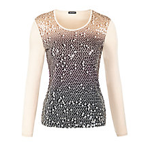 Buy Gerry Weber Ombre Sequin T-shirt, Multi Online at johnlewis.com