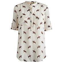 Buy Joules Rosamund Horse Blouse, Cream Horse Online at johnlewis.com