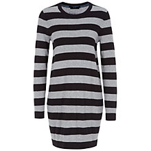 Buy Oui Striped Knit Tunic Top, Black/Multi Online at johnlewis.com