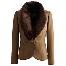 Buy Joules Larkworth Faux Fur Coat, Chestnut Chevron Online at johnlewis.com