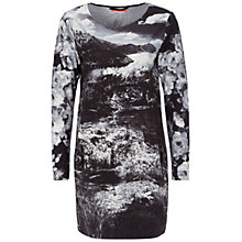Buy Oui Mountain Print Dress, Black/Grey Online at johnlewis.com
