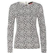 Buy Oui Leopard Jumper, White/Black Online at johnlewis.com