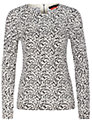 Oui Leopard Jumper, White/Black