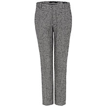Buy Oui Check Smart Trousers, Black/White Online at johnlewis.com