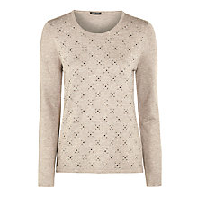 Buy Gerry Weber Knit Jumper, Stone Online at johnlewis.com
