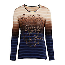 Buy Gerry Weber Stripe Print Top, Multi Online at johnlewis.com