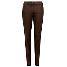 Buy Gerry Weber Coated Straight Leg Jeans, Bronze Online at johnlewis.com