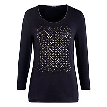 Buy Gerry Weber Stud and Sparkle Top, Ink Online at johnlewis.com