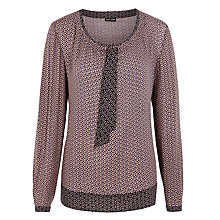 Buy Gerry Weber Tie Neck Geometric Print Blouse, Multi Online at johnlewis.com