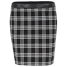 Buy Oui Graphic Check Skirt, Black/White Online at johnlewis.com