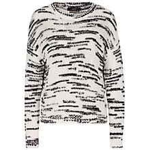Buy Oui Abstract Stripe Jumper, White Black Online at johnlewis.com