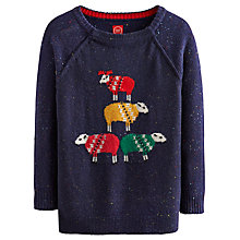 Buy Joules Chrissie Sheep Intarsia Jumper, French Navy Marl Online at johnlewis.com