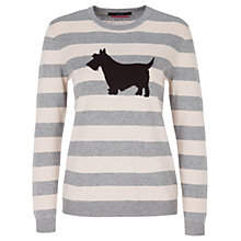 Buy Oui Scottie Dog Jumper, Grey/Black Online at johnlewis.com
