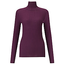 Buy Winser Rollneck Ribbed Jumper, Purple Online at johnlewis.com