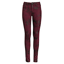 Buy Five Units Penelope Skinny Jeans, Messy Oxblood Online at johnlewis.com