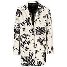 Buy Oui Speckle Patch Coat, Off-white/Black Online at johnlewis.com