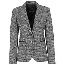 Buy Oui Check Jacket, White/Black Online at johnlewis.com