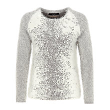Buy Oui Snow Speckle Jumper, Grey/White Online at johnlewis.com