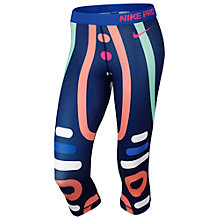 Buy Nike Pro Loops and Lines Running Capri Trousers Online at johnlewis.com