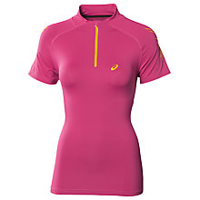 Buy Asics Half-Zip Running Top, Pink Online at johnlewis.com