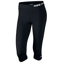 Buy Nike Pro Capri Running Tights, Black Online at johnlewis.com