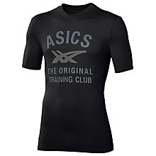 Buy Asics Performance Running T-Shirt, Black Online at johnlewis.com