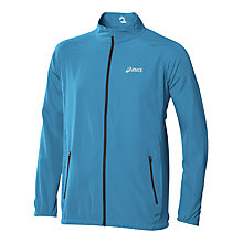 Buy Asics Woven Running Jacket, Blue Online at johnlewis.com