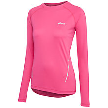 Buy Asics Long Sleeve Running Top, Magenta Online at johnlewis.com