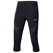 Buy Asics Tiger Knee-Length Running Tights, Black/Purple Online at johnlewis.com