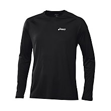 Buy Asics Long Sleeve Crew Neck Running Top, Black Online at johnlewis.com